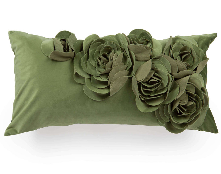 Jardi Floral Boudoir Cushion Cover - Palm
