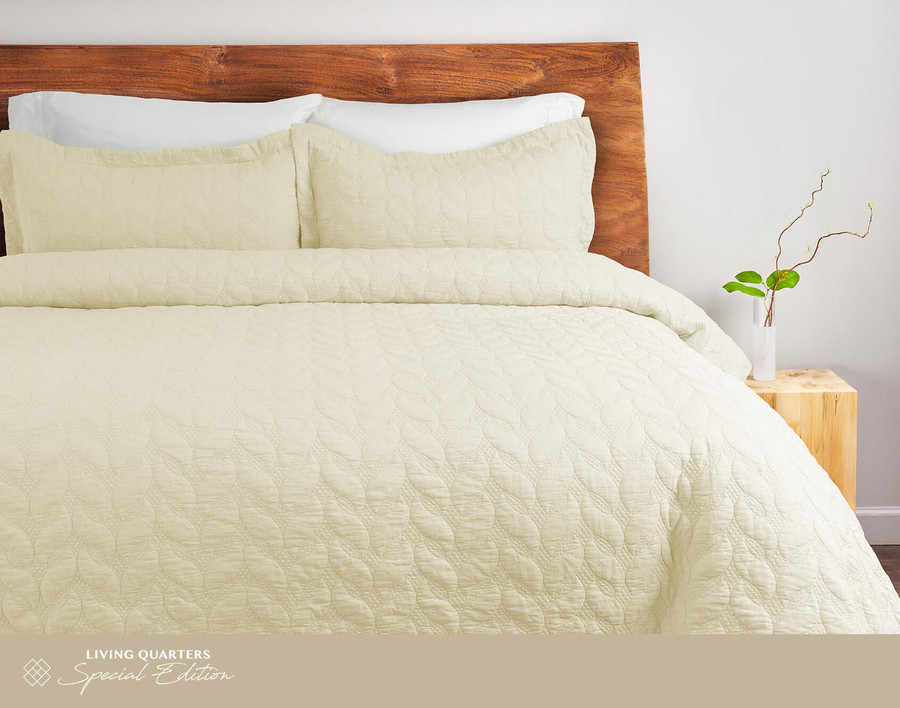 Riverglade Sand Washed Coverlet Set in Vanilla is a lovely cream colour.