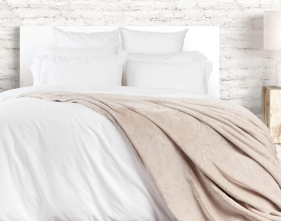Cashmere Touch Fleece Blanket - Taupe