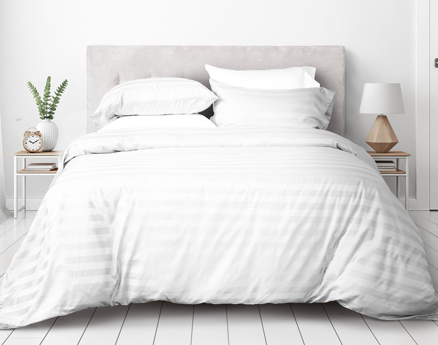 Pima Cotton Duvet Cover Set - White
