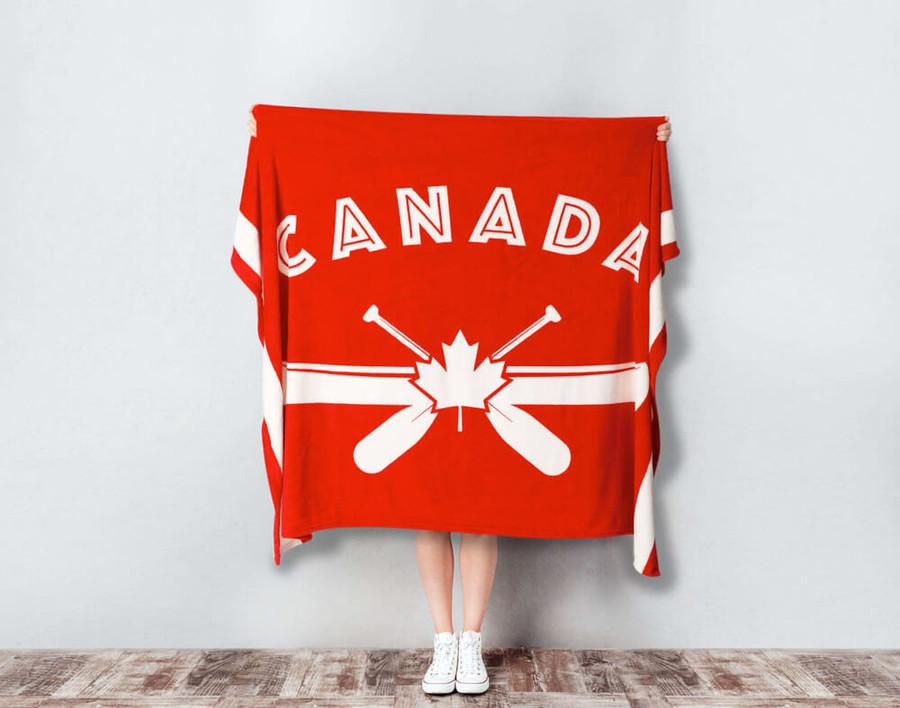 Canoe Canada Fleece Throw
