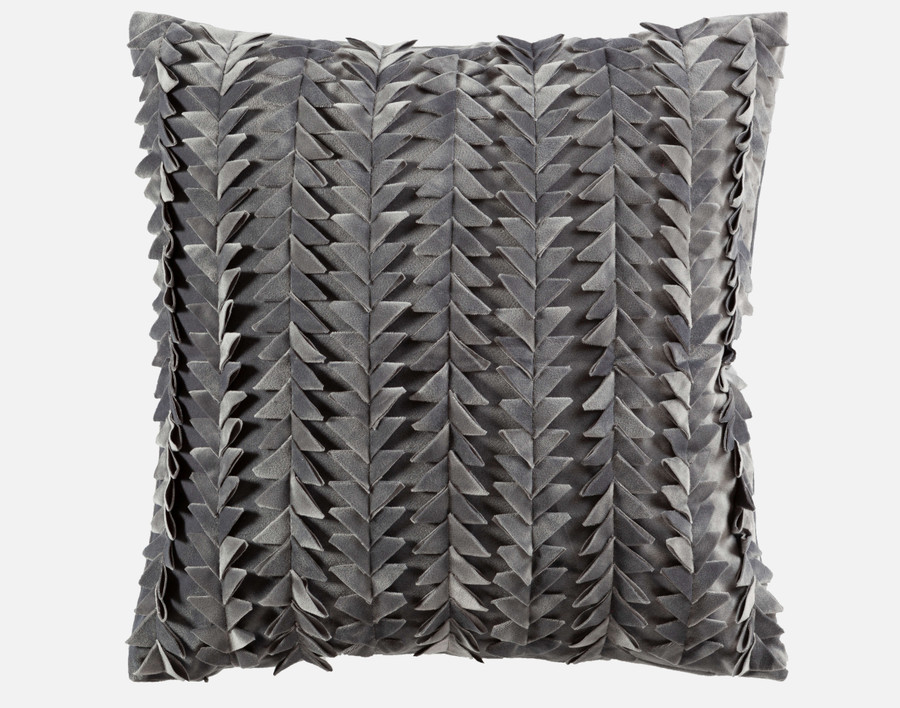 Yarrow Textured Square Cushion Cover - Charcoal
