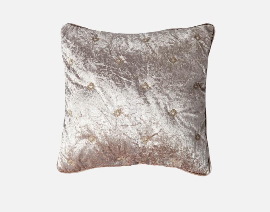 Lennox Velvet Square Cushion Cover  - Antique Gold