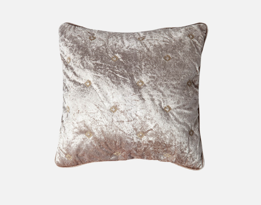Lennox Velvet Square Cushion Cover  - Antique Gold