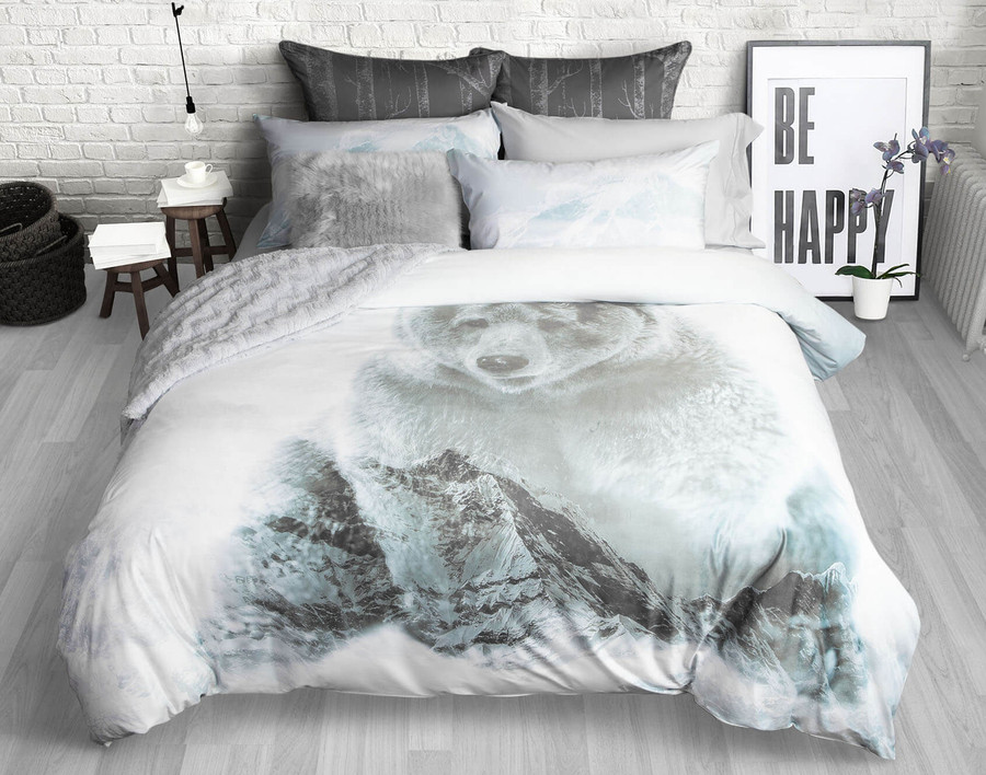 Brown Bear Duvet Cover Set
