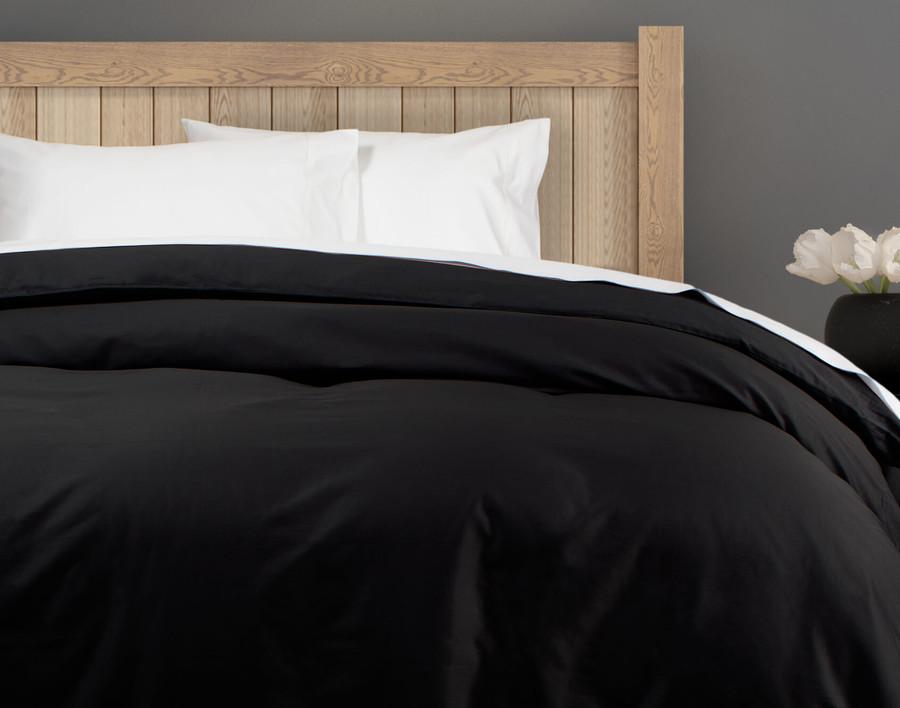 300TC Cotton Sateen Duvet Cover - Onyx