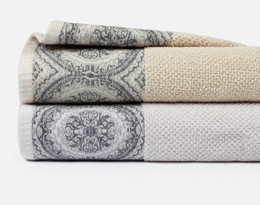 Cotton Jacquard Hand Towels - Set of Two