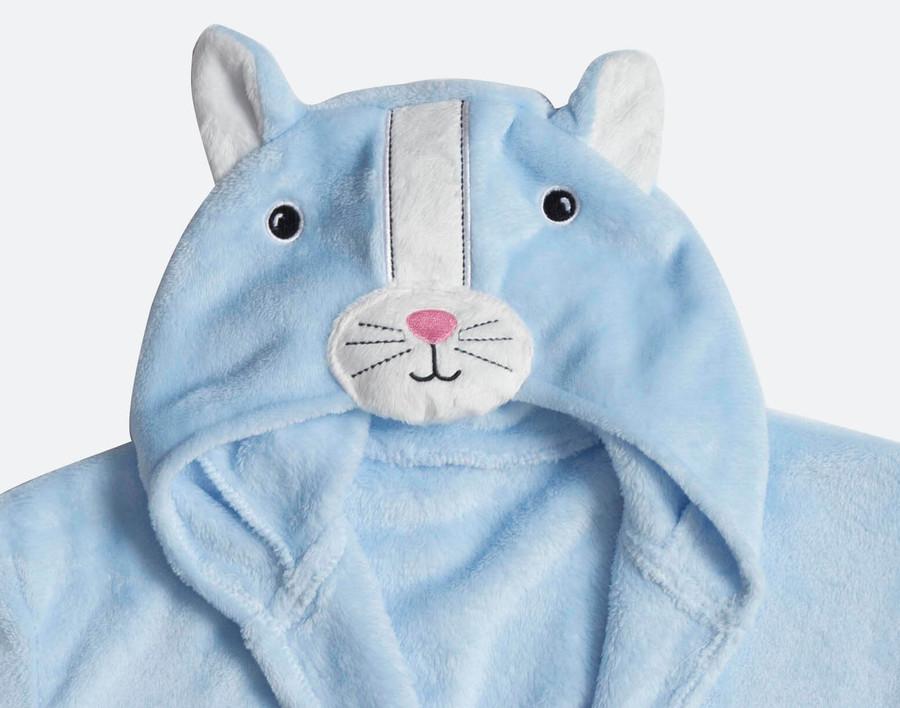 Hooded Fleece Robe - Una the Cat