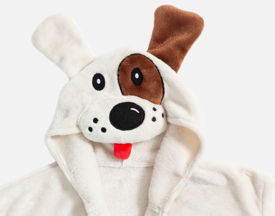 Hooded Fleece Robe - Dalmatian