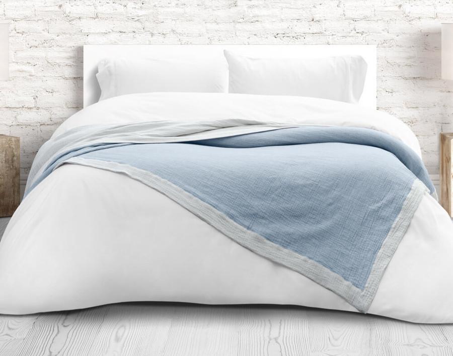 Air Cotton Blanket - Denim