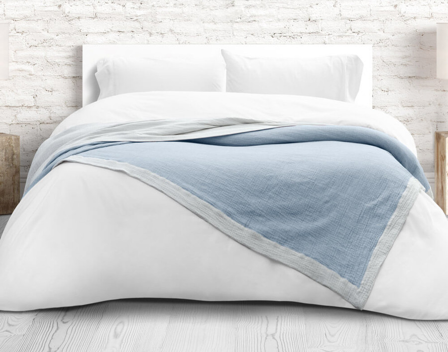 Air Cotton Blanket in Denim Blue
