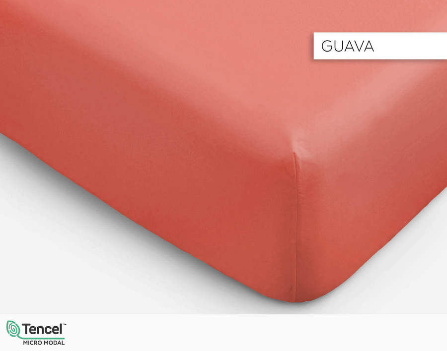 BeechBliss TENCEL Modal fitted sheet in Guava