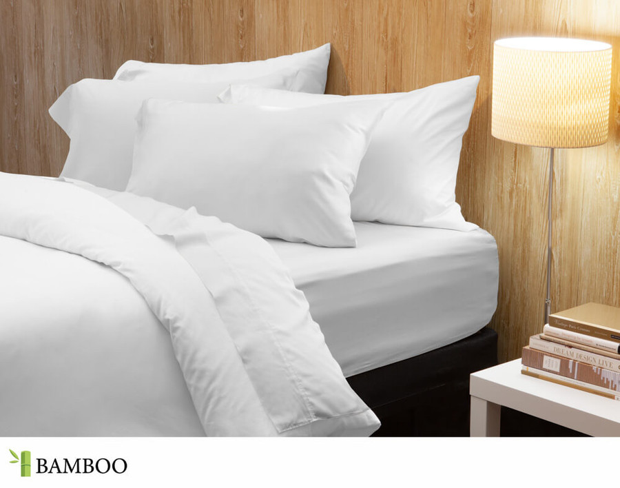 Bamboo Cotton Sheeting in White