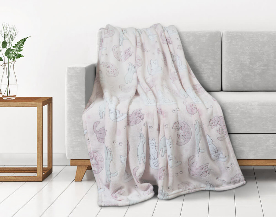 Cat Nap - Glow in the Dark Fleece Throw