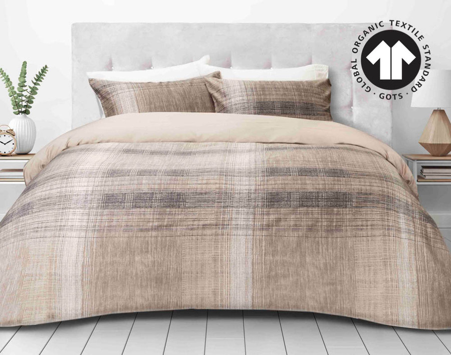 300TC Organic Cotton Duvet Cover Set - Travis