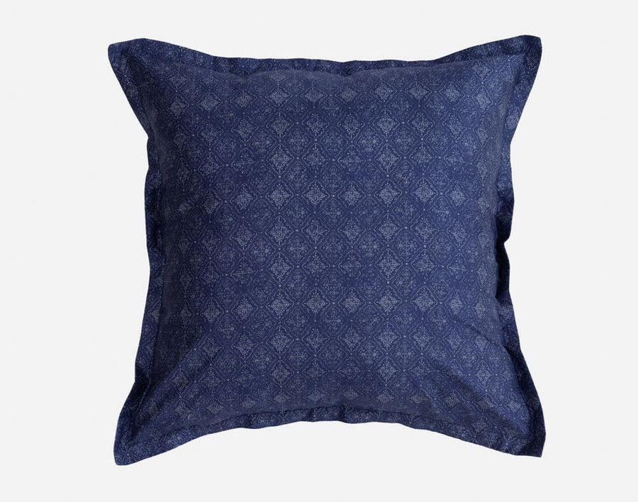 The Sumatra Euro sham is sewn with the small diamond pattern and features 1-inch flange.