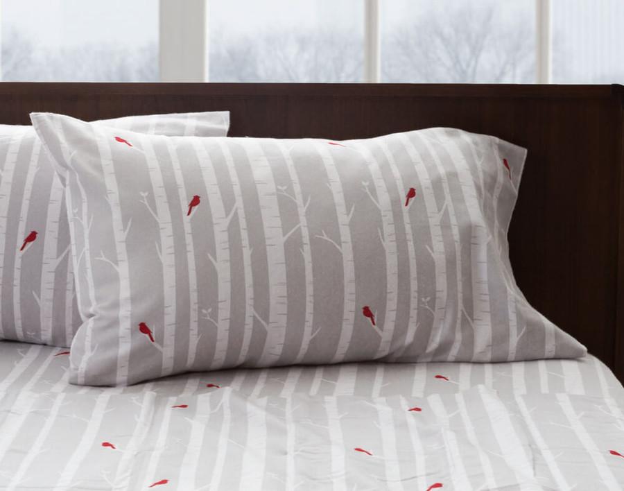 Flannel Cotton Sheet Set - Birch Trees