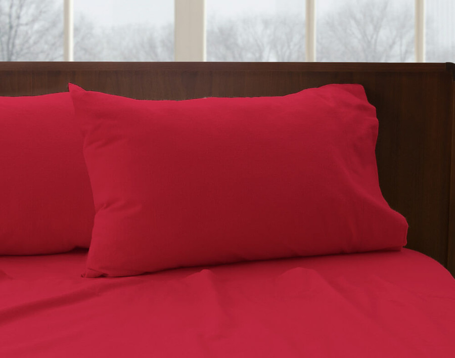Flannel Cotton Sheet Set - Poinsettia