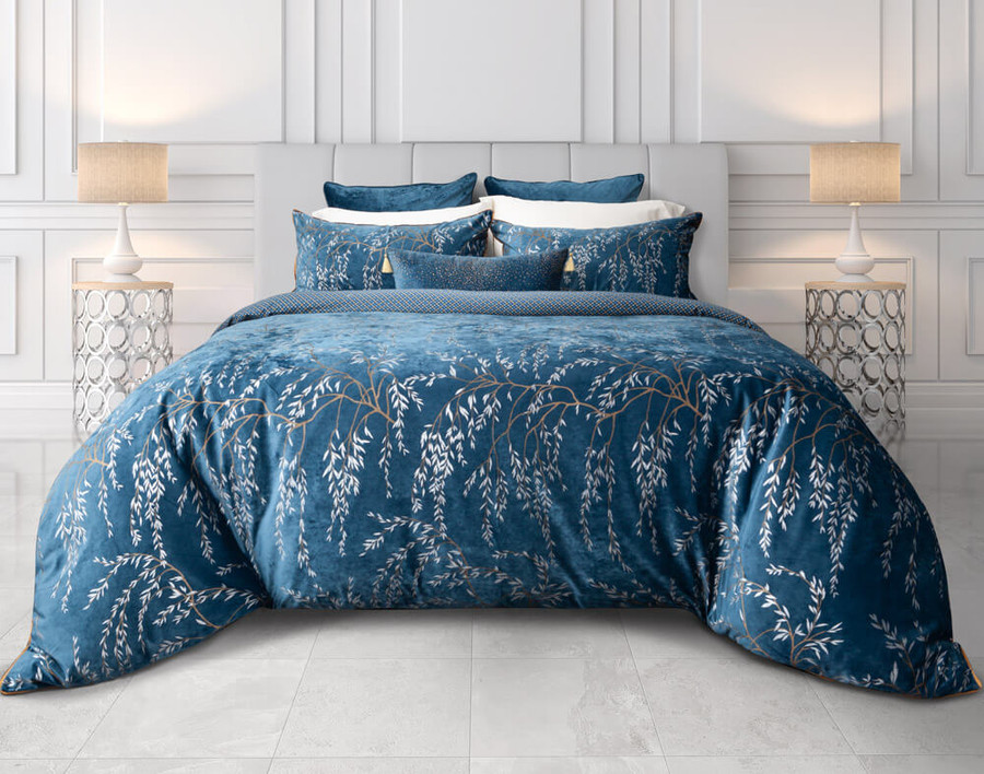 Panache Bedding Collection in cool lighting.