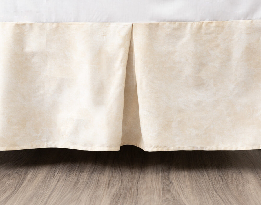 Mirasol Bedskirt in a soft sandstone colour