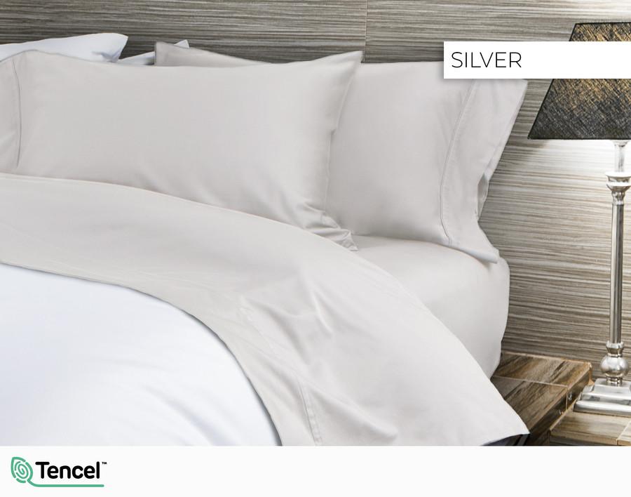 300TC TENCEL™ Lyocell Blend Sheet Set in Silver