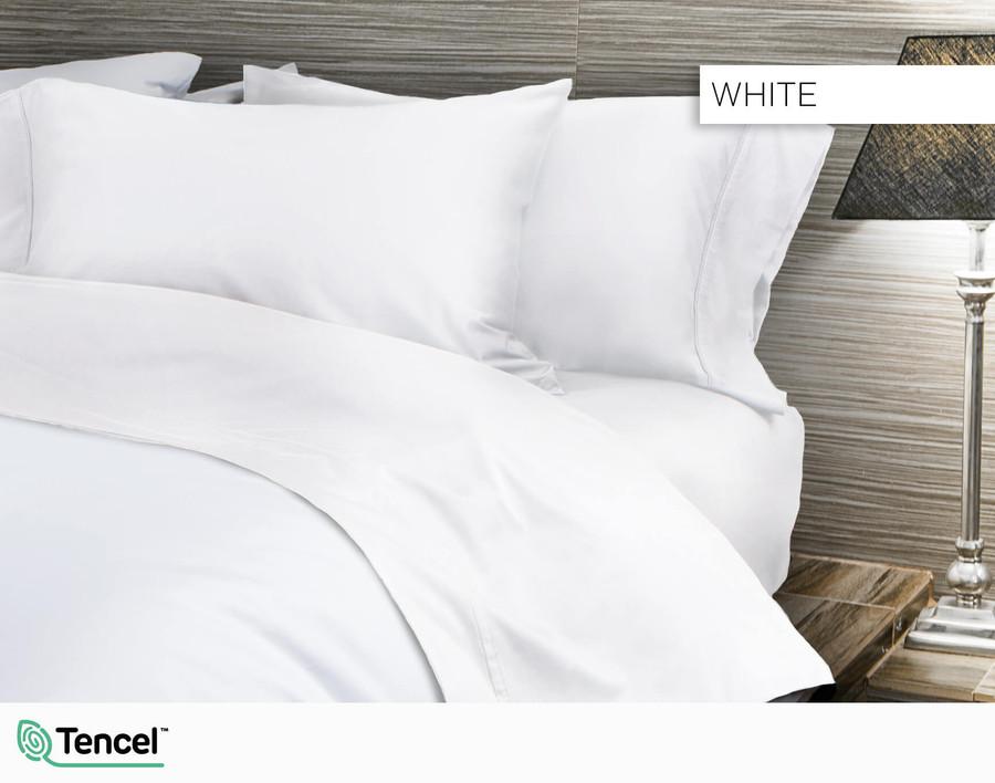 300TC TENCEL™ Lyocell Blend Sheet Set in White
