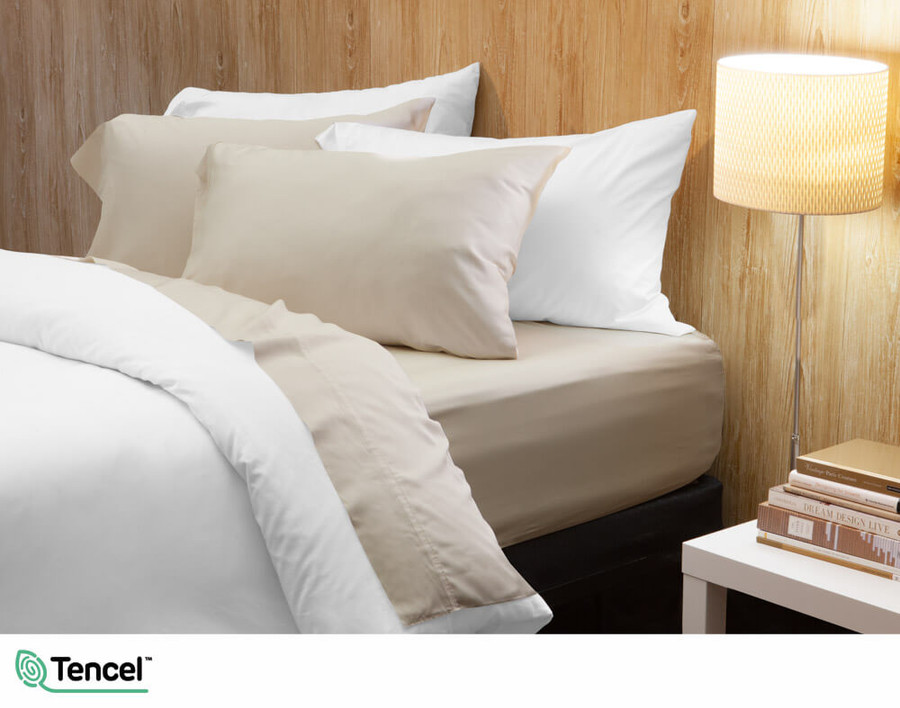 300TC TENCEL™ Lyocell Blend Sheet Set in Tan
