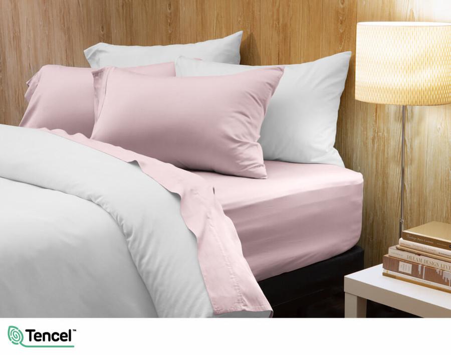 300TC TENCEL™ Lyocell Blend Sheet Set in Violet Ice, a light purple pink colour