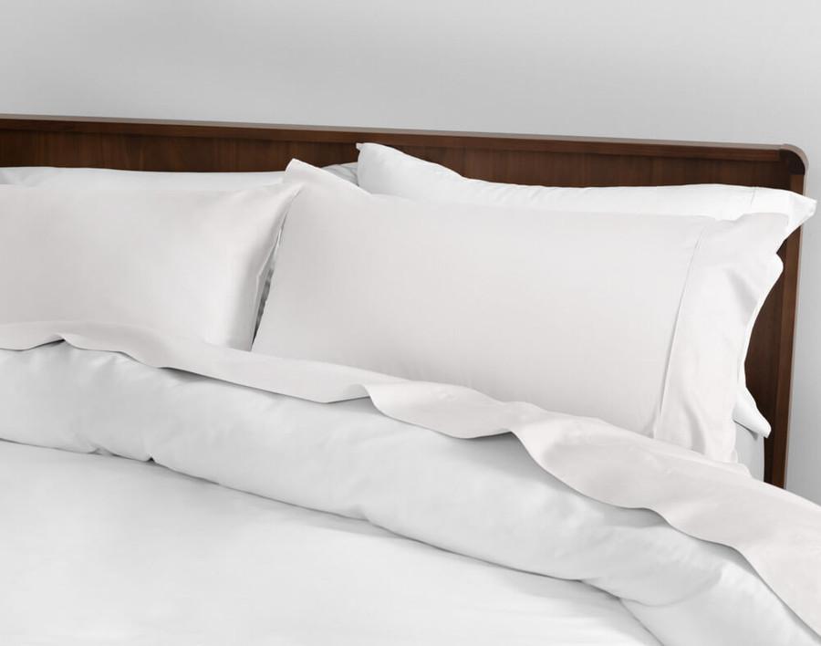 Sateen Cotton 500TC California King Sheet Set in White