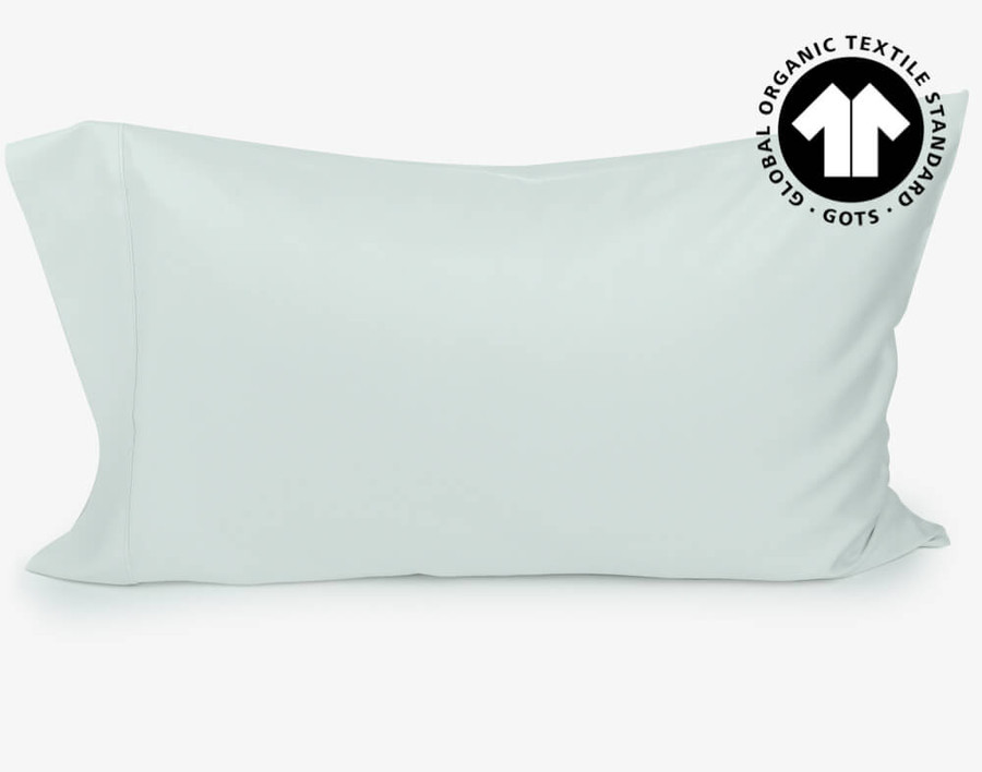 300TC Organic Cotton Pillowcases in Seaglass Green