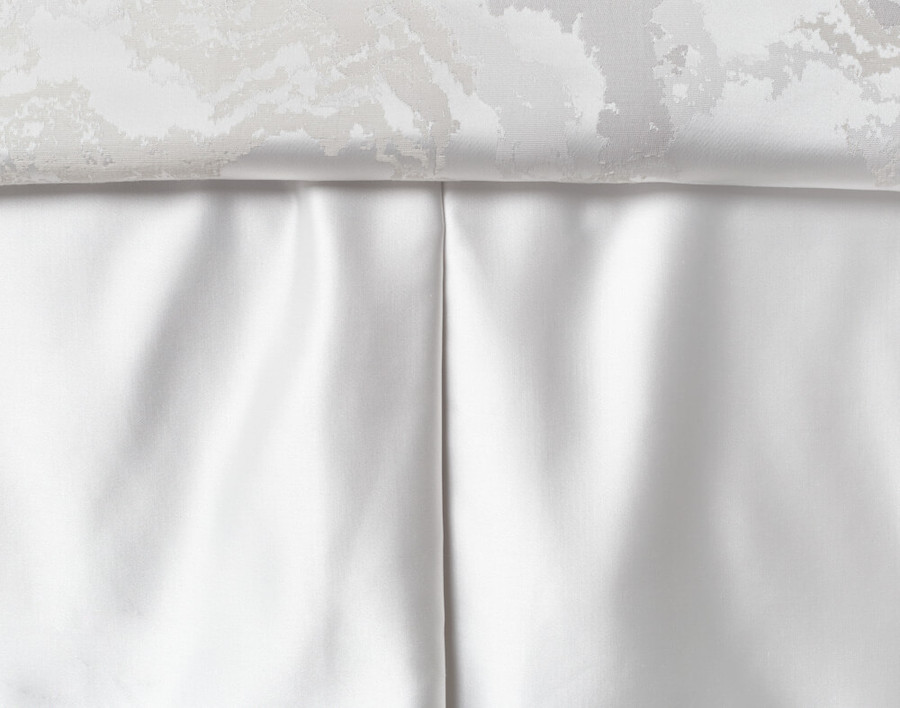 Travertine Bedskirt in White