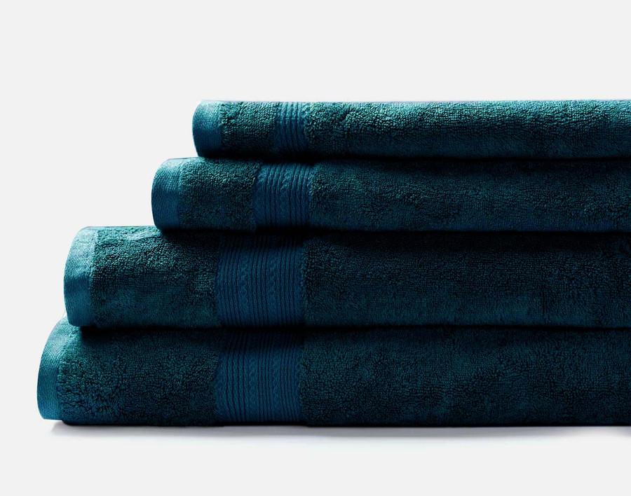 TENCEL™ Modal Cotton Towels in Deep Teal.