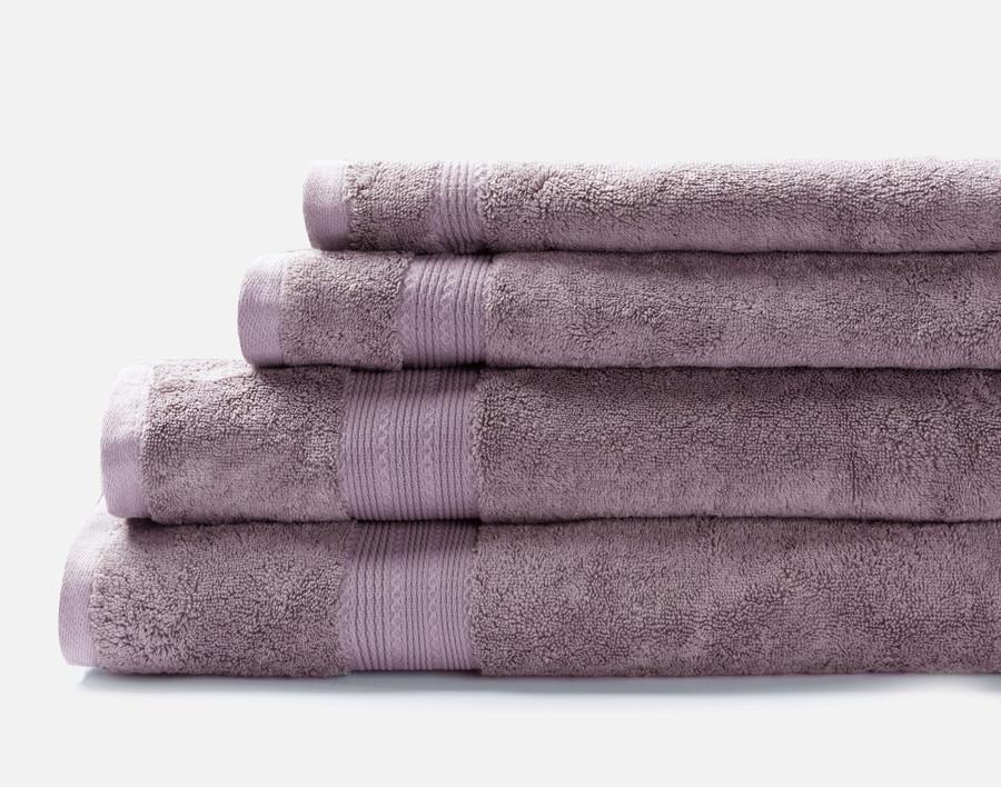 TENCEL™ Modal Cotton Towels in Lilac Ash, a dusty purple.