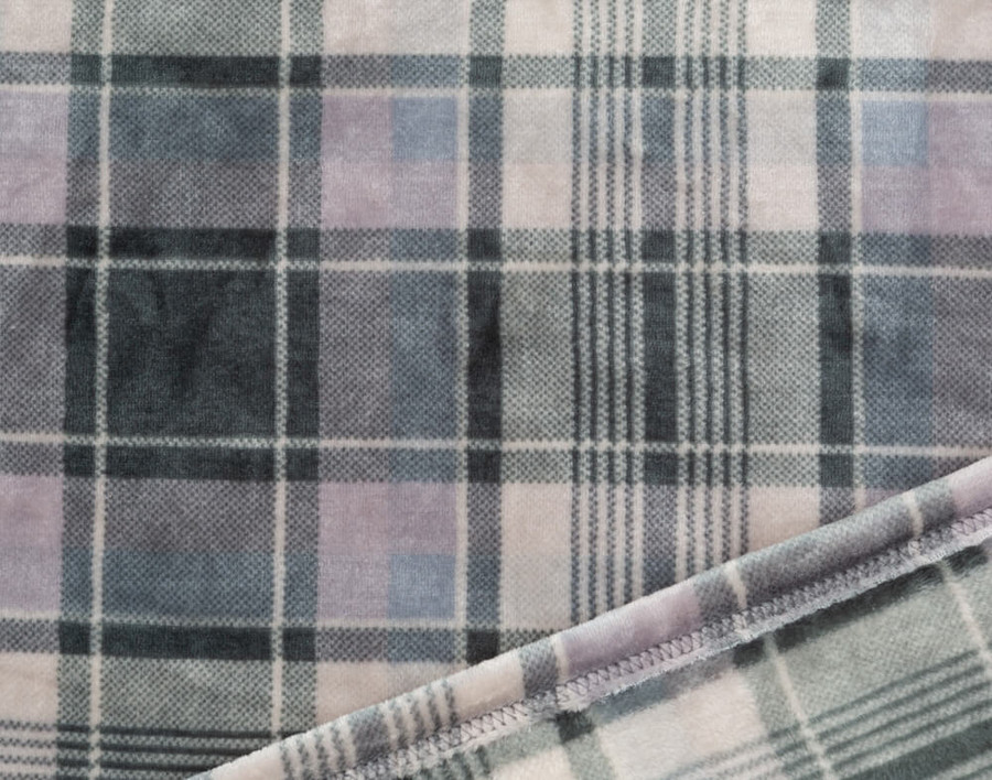 Close up of Inverness Plaid Throw in Forest