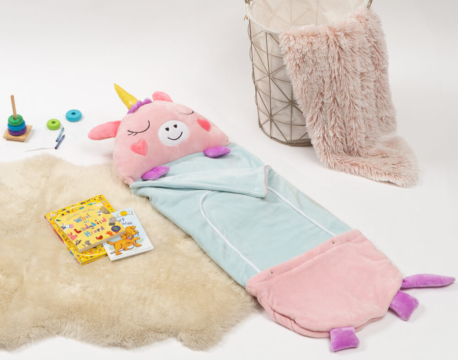 Flannel Sleeping Bag in Unicorn