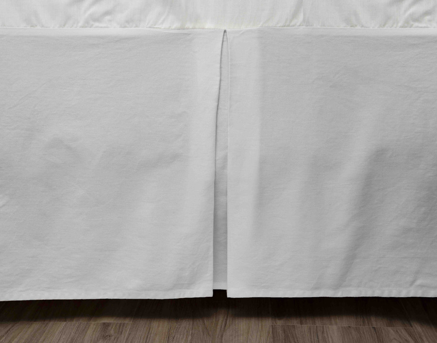 Cotton Twill Bedskirt in Silver