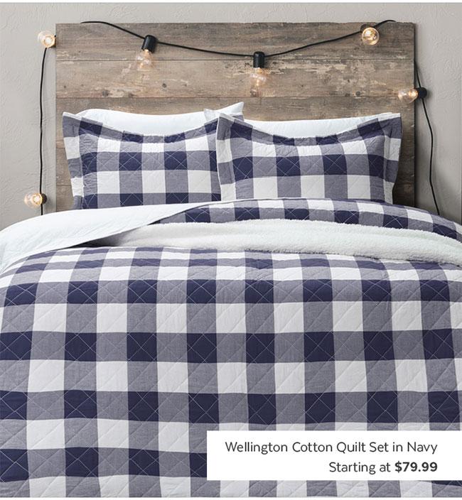 Wellington Cotton Quilt Set