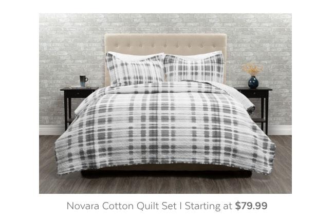 Novara Cotton Quilt Set