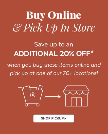 Buy online & Pick up in store