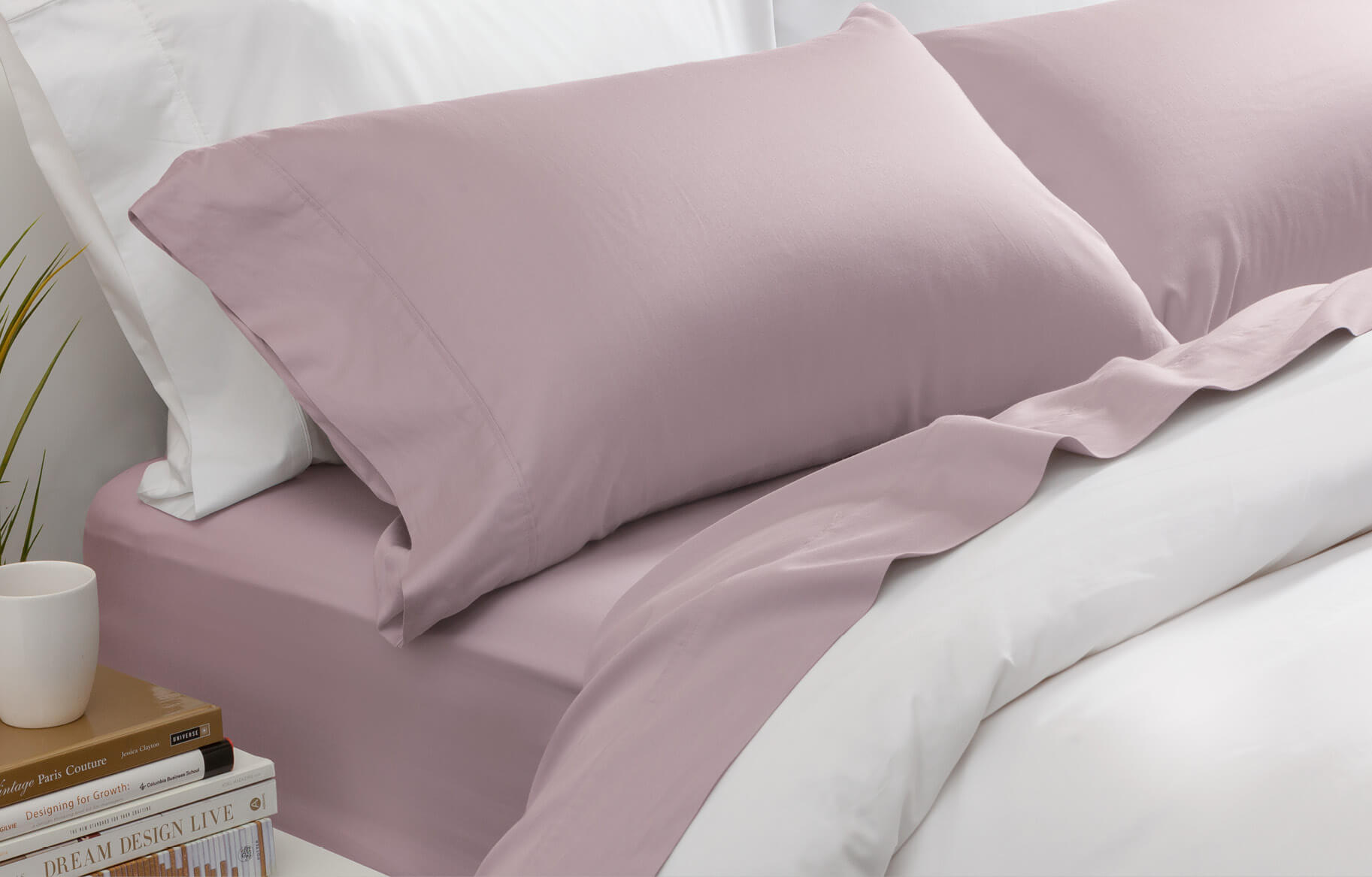 Bamboo Cotton Sheet Set in Orchid