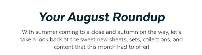 August Roundup