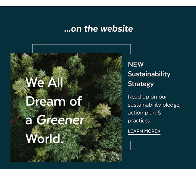 New Sustainability Strategy