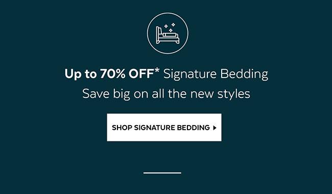 Shop Signature Bedding
