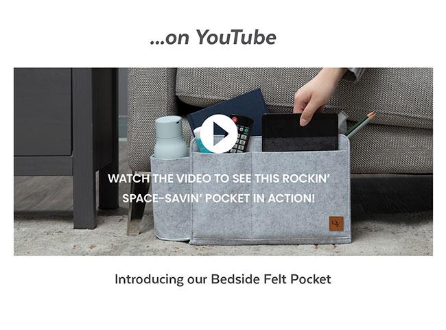 Introducing our Bedside Felt Pocket