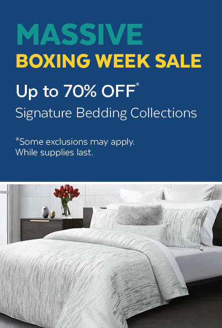 70% Off Signature Bedding Collections