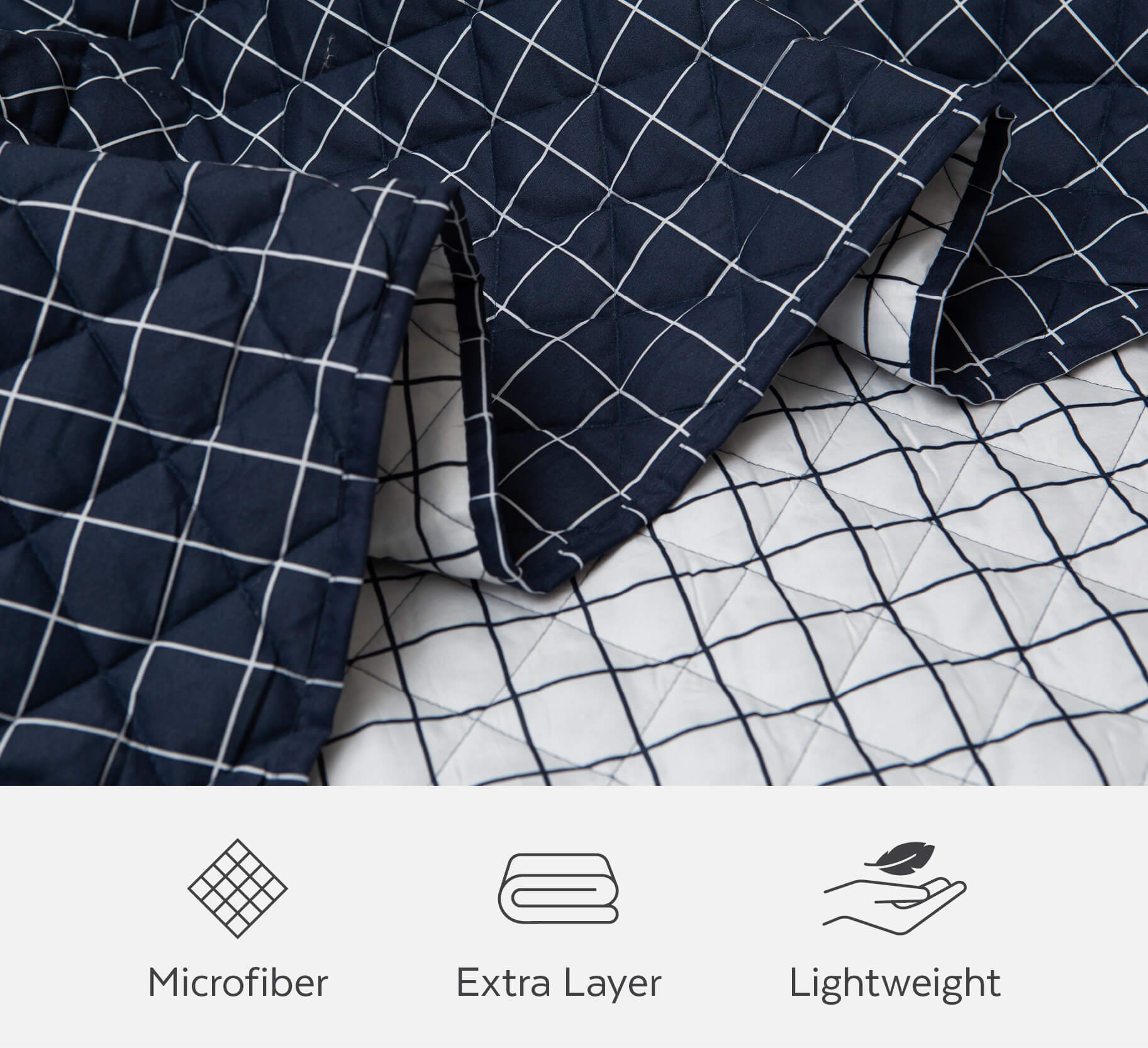 Coverlets are made of microfiber and can be used as a lightweight extra layer