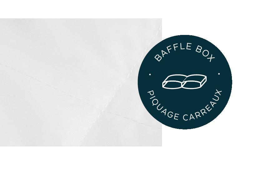 baffle box stitching