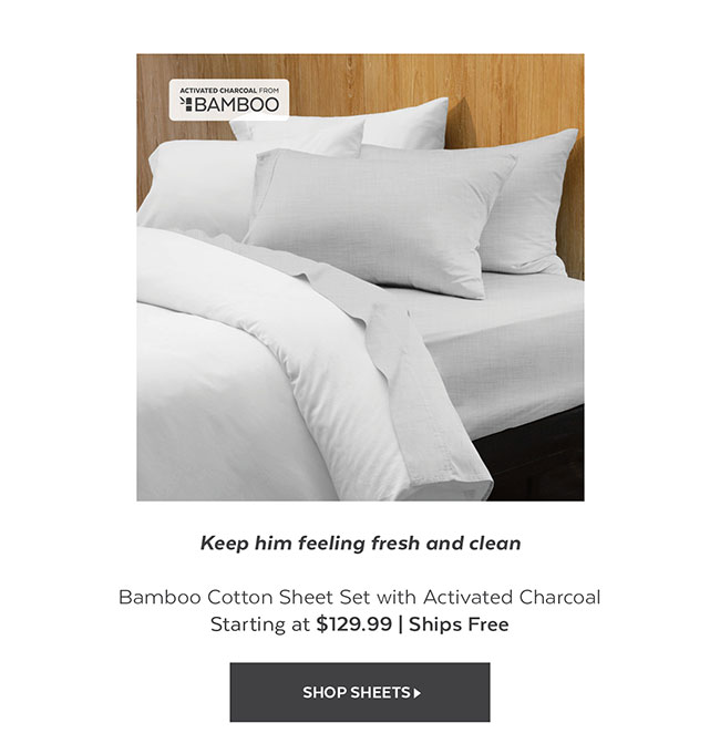 Bamboo Cotton Sheet Activated Charcoal