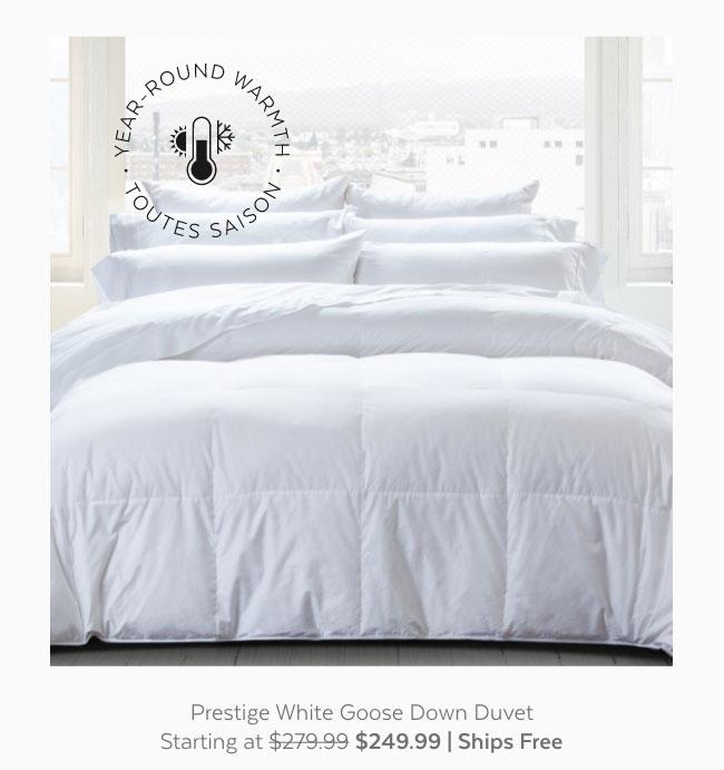 Prestige White Goose Down Duvet