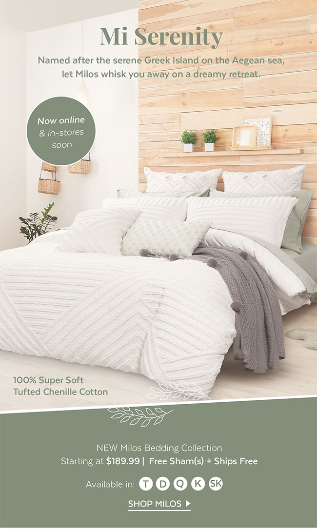Milos Bedding Collection